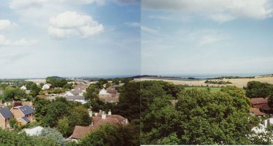 From St Margaret's church tower looking east and north east.  23 August 2005