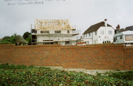 Fontaine Bleue, Granville Road, during building.  2005