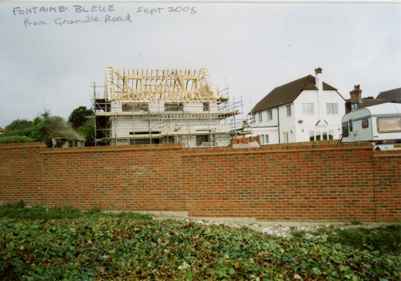'Fontaine Bleue', Granville Road, during building.  2005