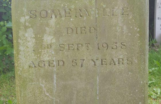 Gravestone of SOMERVILLE Edith Joan 1958