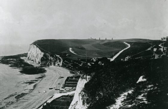 St Margaret's Bay from The Leas. c1899