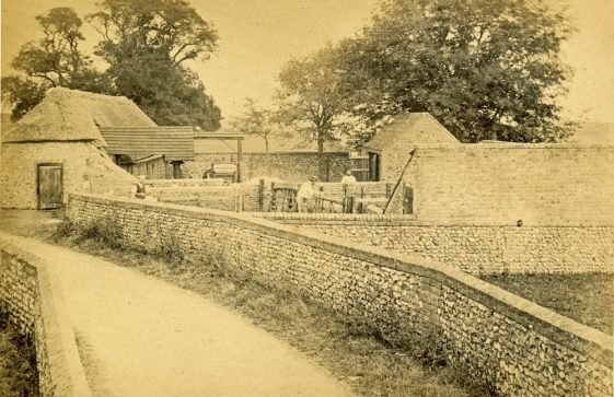 Well House Farm, Chapel Lane c1900; the same site in 1984
