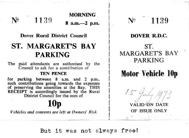Bay parking ticket. C1973