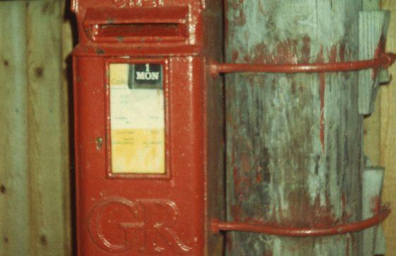 Pillar boxes in St Margaret's Bay