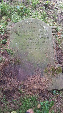 Gravestone of CLAYSON Caroline Pilcher Palmer 1890