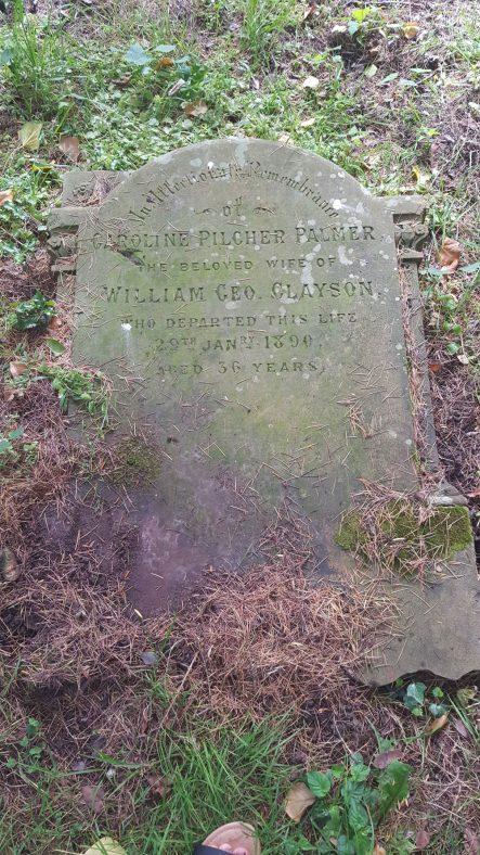 Gravestone of CLAYSON Caroline Pilcher Palmer 1890 | Dawn Sedgwick