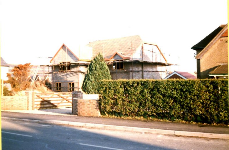 Royston, Reach Road, a new build house in the garden. 1987