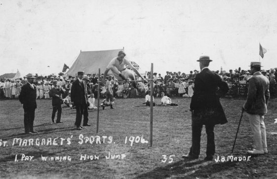 High Jump at St Margaret's Sports Day. 1906