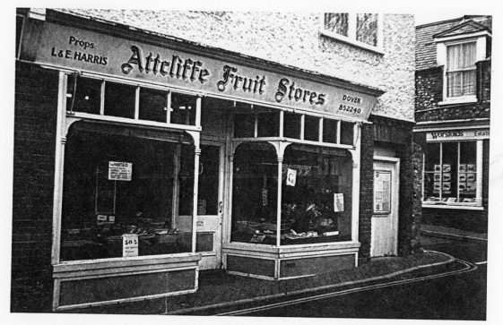 Attcliffe Fruit Stores, High Street, when it was owned by L & E Harris.