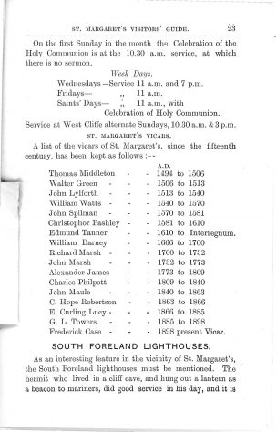 Madge's St Margaret's Guide c.1903, pages 23 to 31