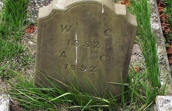 Gravestone of CLAYSON William 1882; CLAYSON Ann 1892