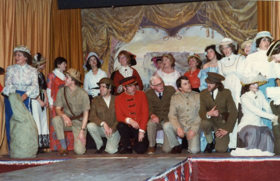 Cast of St Margaret's Players production 'Old Tyme Music Hall'