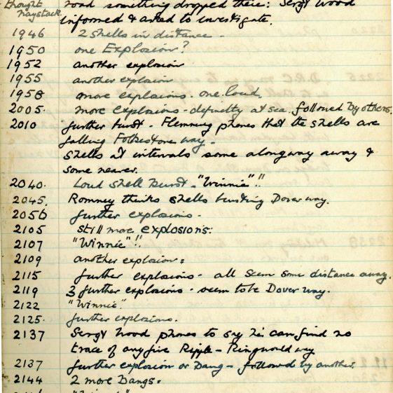 St Margaret's ARP (Air Raid Precautions) Log. Volume 3. 2 November 1940 - 17 February 1941. Pages 27-34