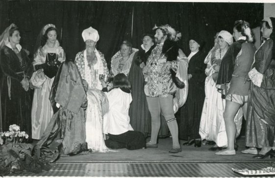 Cast of St Margaret's Players production 'Christening of Elizabeth I'
