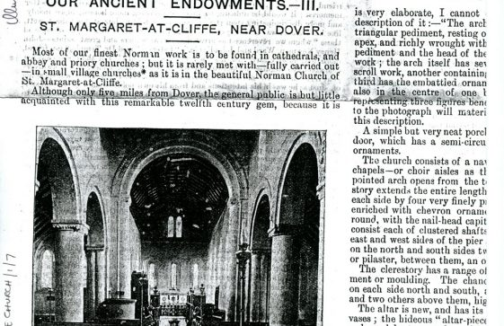 Extract from 'Illustrated Church News' with photograph of church interior. November 1893