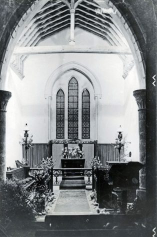 Interior of St Peter's Church Westcliffe. Harvest Festival 1949
