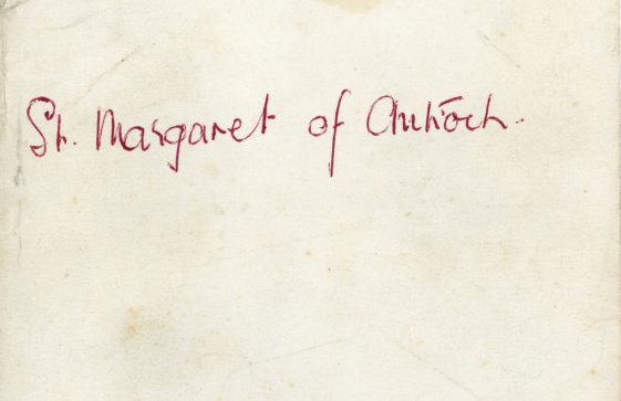 Script of the play 'St Margaret of Antioch' performed by WI in St Margaret's Church. 1960