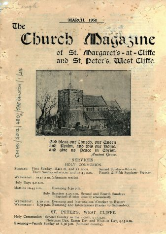 Church Magazine of St Margaret's at Cliffe and St Peter's Westcliffe.  March 1958