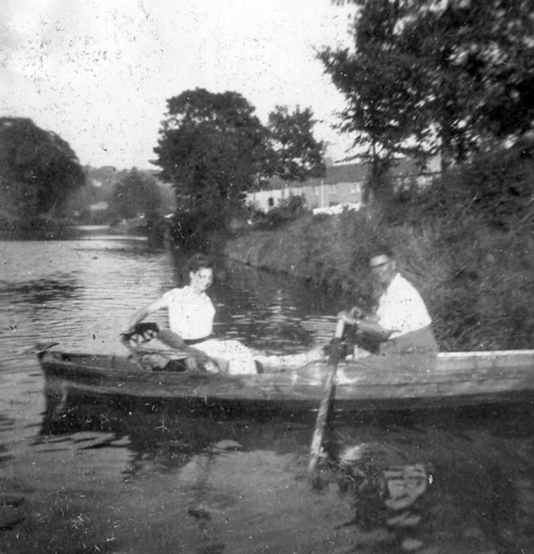 Couple in a rowing boat