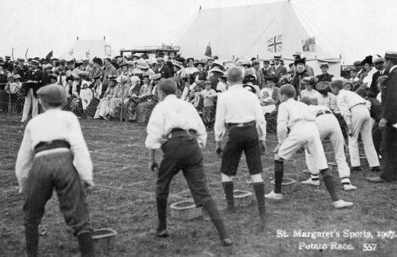 Boys' Potato Race St Margaret's Sports Day. 1907