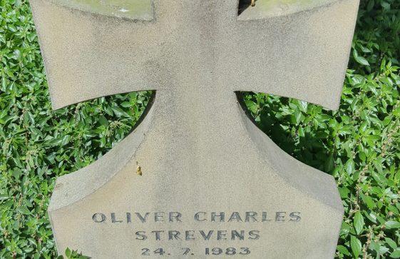 Gravestone of STREVENS Oliver Charles Richard 1983