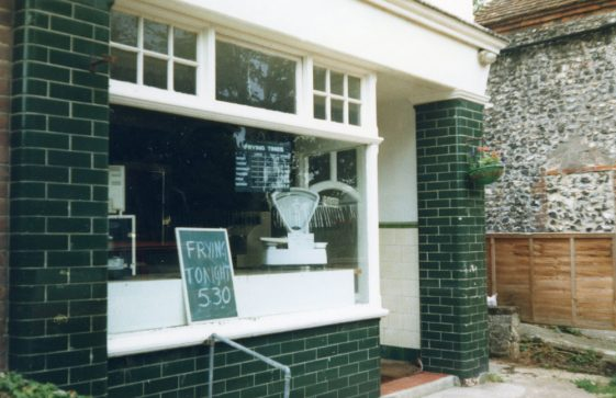 Sea Street: The Dutch Oven as a Fish and Chip shop. 1986/7