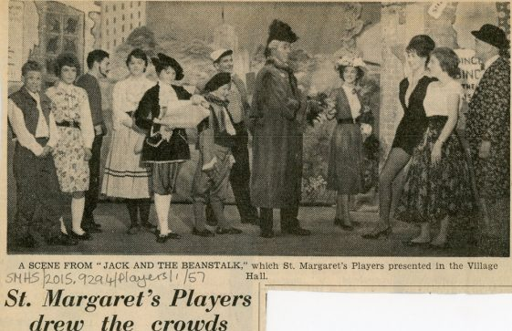 Press review of St Margaret's Players pantomime 'Jack and the Beanstalk'. Undated