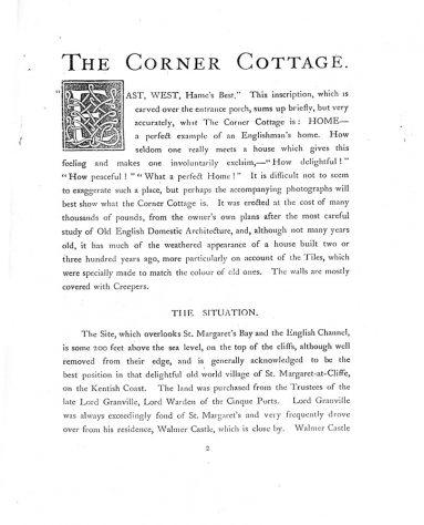 Corner Cottage, Granville Road. 1907