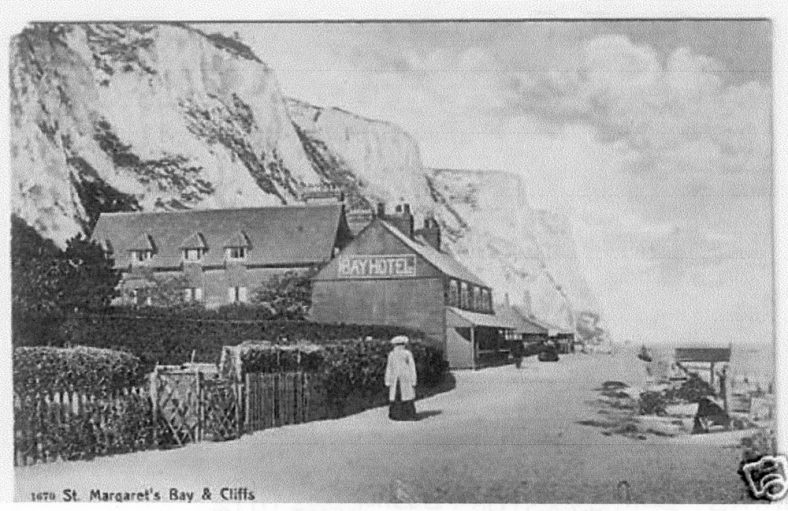 St Margaret's Bay Hotel and the cliffs. c1900