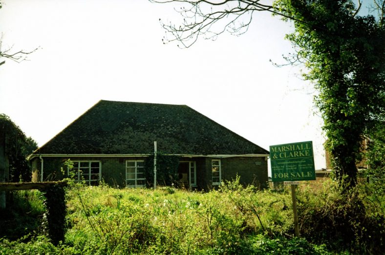 The former bungalow 'Franconia' in The Droveway up for sale 9 April 2011