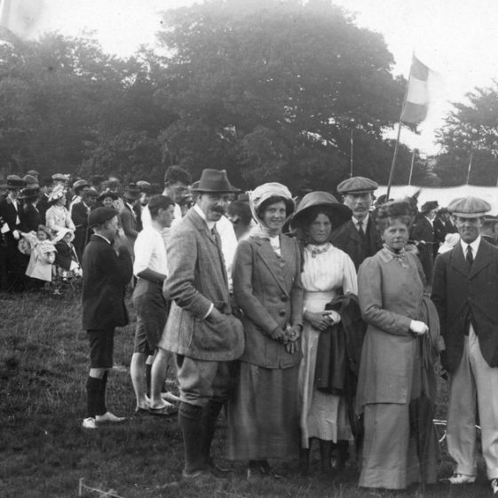 Spectators at St Margaret's Sports Day. 1910