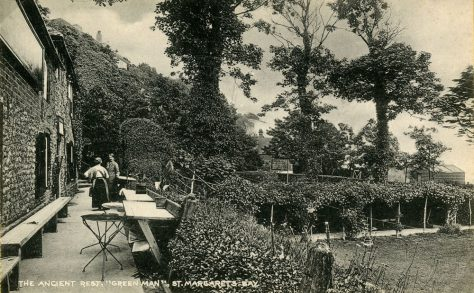 The Green Man St Margaret's Bay, terrace and garden. 1920's