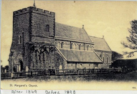 St Margaret's Church from the south west.  Post 1869, pre 1898