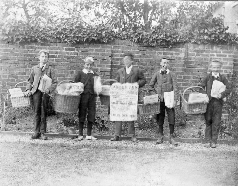 Group of errand boys