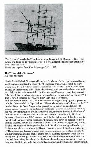 'The Wreck of the Preussen' by Malcolm Shepherd.