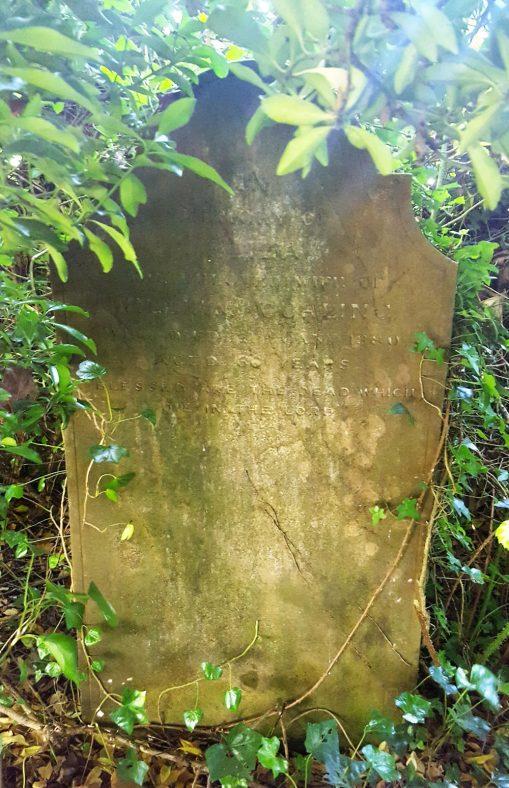 Gravestone of CURLING Eliza 1880   Dawn Sedgwick
