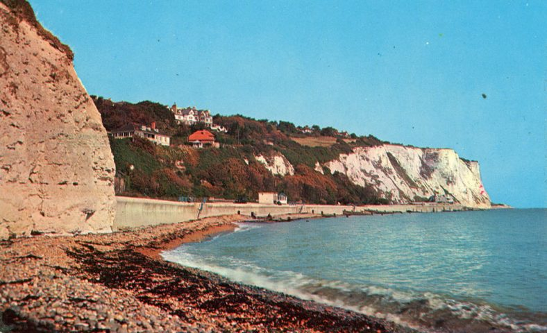 East Cliff and St Margaret's Bay from the beach. Undated