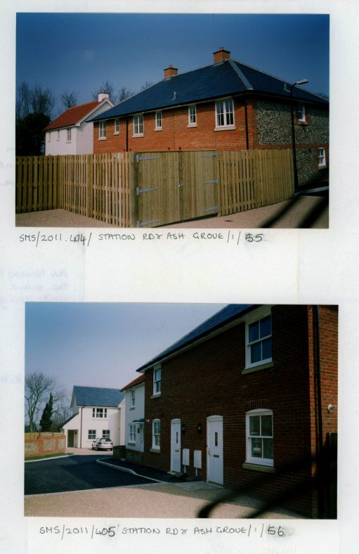 Two exterior views of new properties at Ash Grove. c 2004