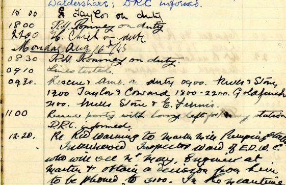 St Margaret's ARP (Air Raid Precautions) Log. Volume 7. 15 February 1943 - 25 October 1943. Pages 105-116