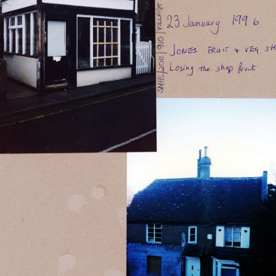 Arcadia Cottage, High Street, showing transition from a Greengrocer's shop to a residence. February 1996