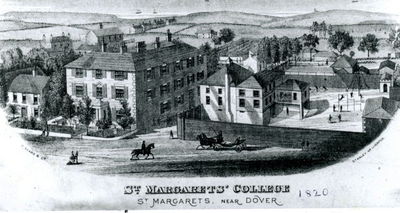 Extract from Boythons 1823 Guide to Dover with information on St Margaret's and Cliffe House School