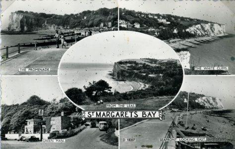 Multiple view postcard of St Margaret's Bay. c1950