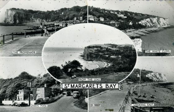 Postcard showing views of St Margaret's Bay. c1950