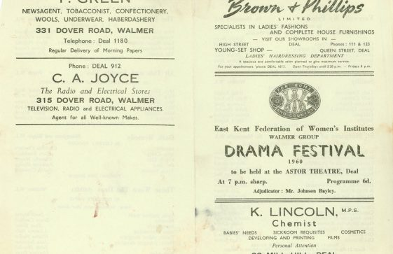 Programme for the WI Drama Festival 1961