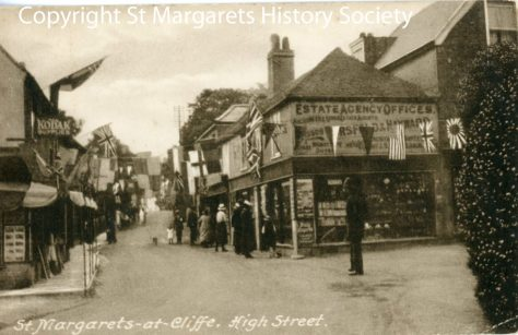 High Street decorated for the Coronation of King George V. 1911