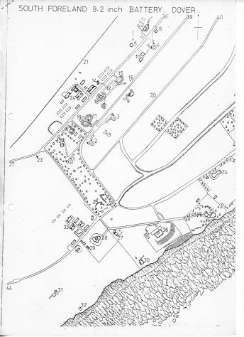 Detailed plan, with descriptive notes, of the South Foreland Gun Battery by John Guy