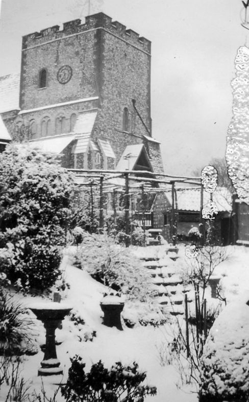 St Margaret's church in the snow.