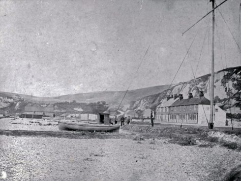 Coastguard Cottages and Atkins family St Margaret's Bay. 1865