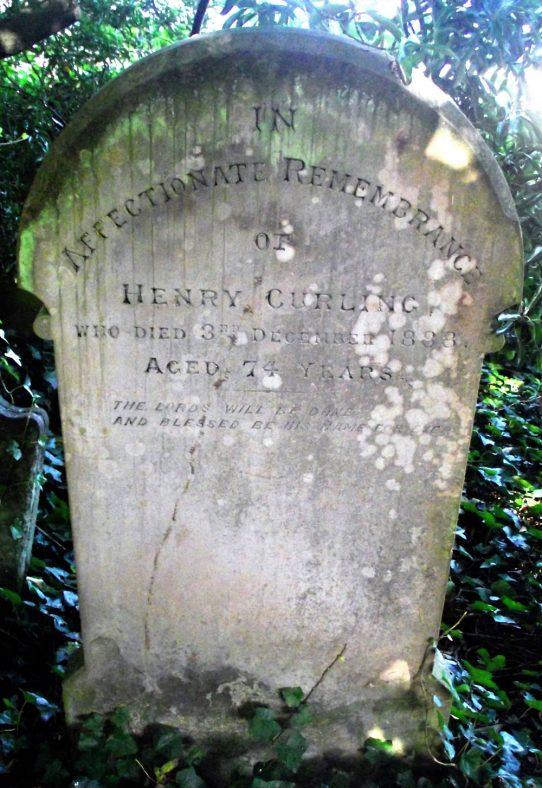 Gravestone of CURLING Henry 1888 | Dawn Sedgwick