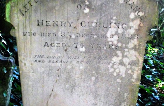 Gravestone of CURLING Henry 1888